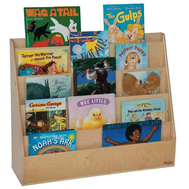 Book Display Stand Book Display Stand With Five Sloping Hardboard Shelves On Front And Four Shelves On Rear Assembled 30 W X 11 D X 29 H