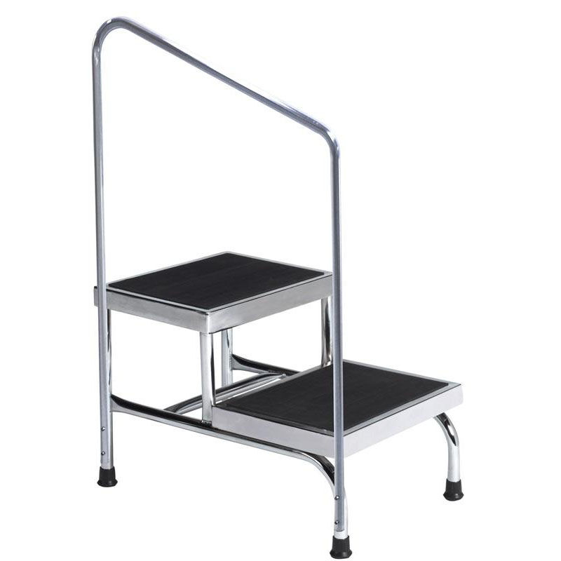 Metal Step Stool Two Step Stool With Handrail