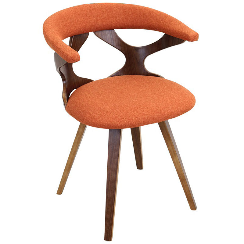 Orange Mid Century Modern Chair Gardenia Orange Chair Ch Gard Wl O Bizchair