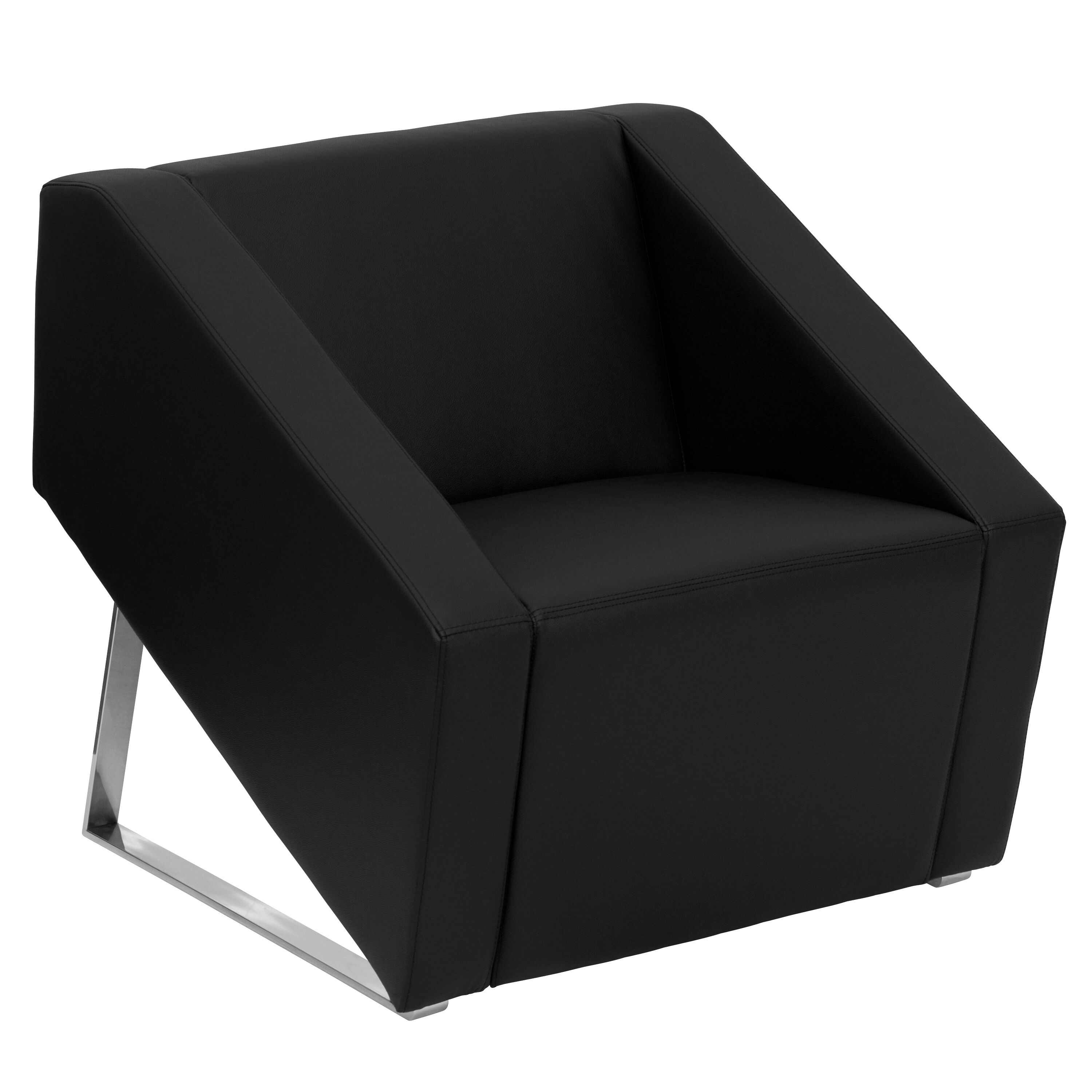Furniture Chairs Black Our Hercules Smart Series Black Leather Lounge Chair Is On