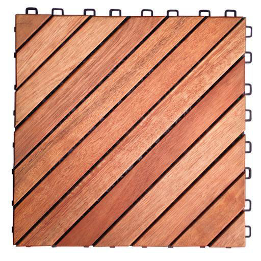 Interlocking Deck Tiles Outdoor Patio 12 Diagonal Slat Eucalyptus Interlocking Deck Tile Set Of 10
