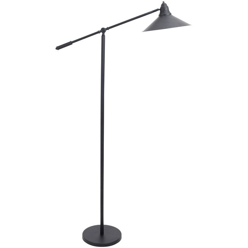 Black Industrial Floor Lamp Our Paddy Industrial Floor Lamp With Gold Accents Black
