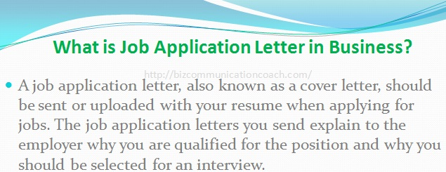 What is Job Application Letter in Business?