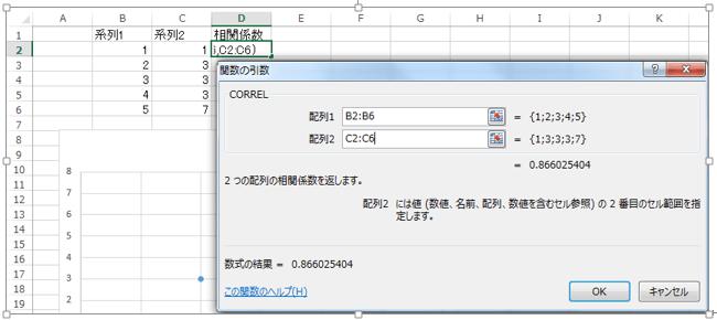 エクセル_相関係数_2