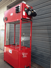 Used Clean Burn CB-2500 Waste Oil Furnace on Recycling Center