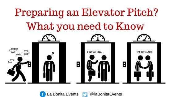 What you need to Know when preparing an Elevator Pitch