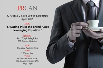 prcan April 2016 Breakfast Meeting