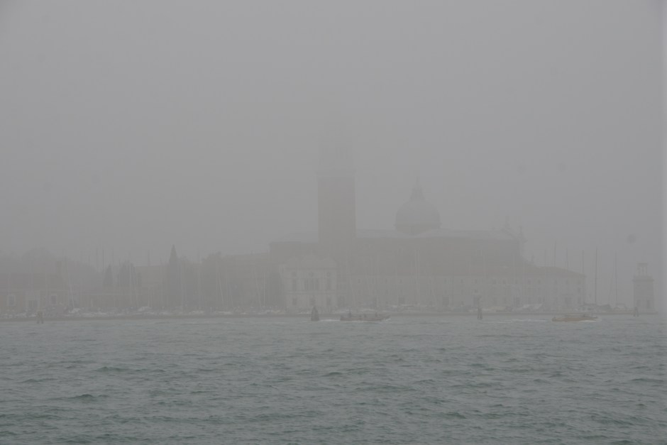 Today in the Fog, view of San Giorgio