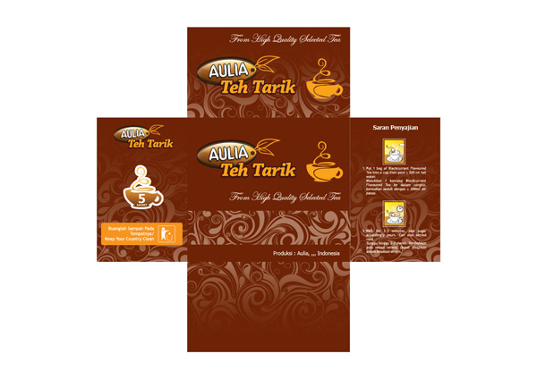 Background Gradasi Warna Coklat Kemasan Teh Tarik Aulia | From Hardwork To Artwork