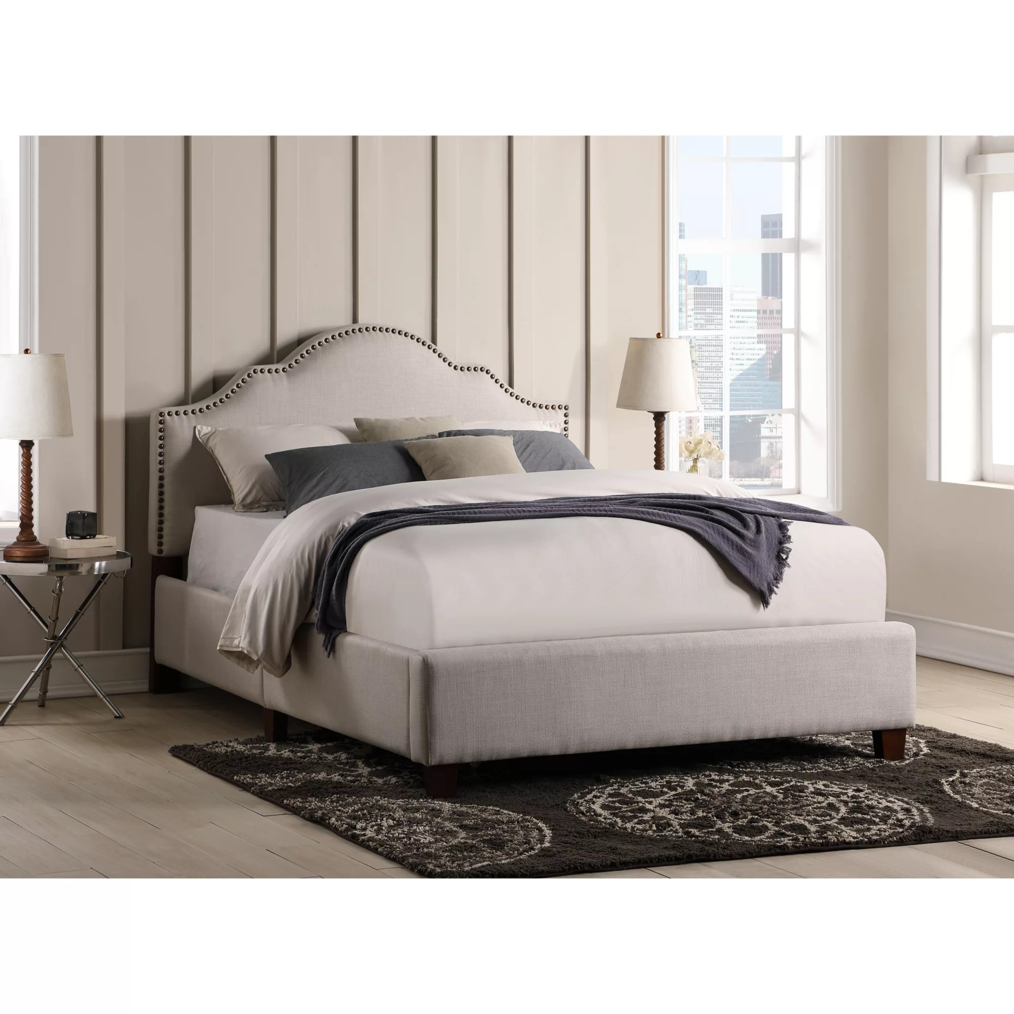 Northridge Home Queen Upholstered Bed In A Box Bjs Wholesale Club
