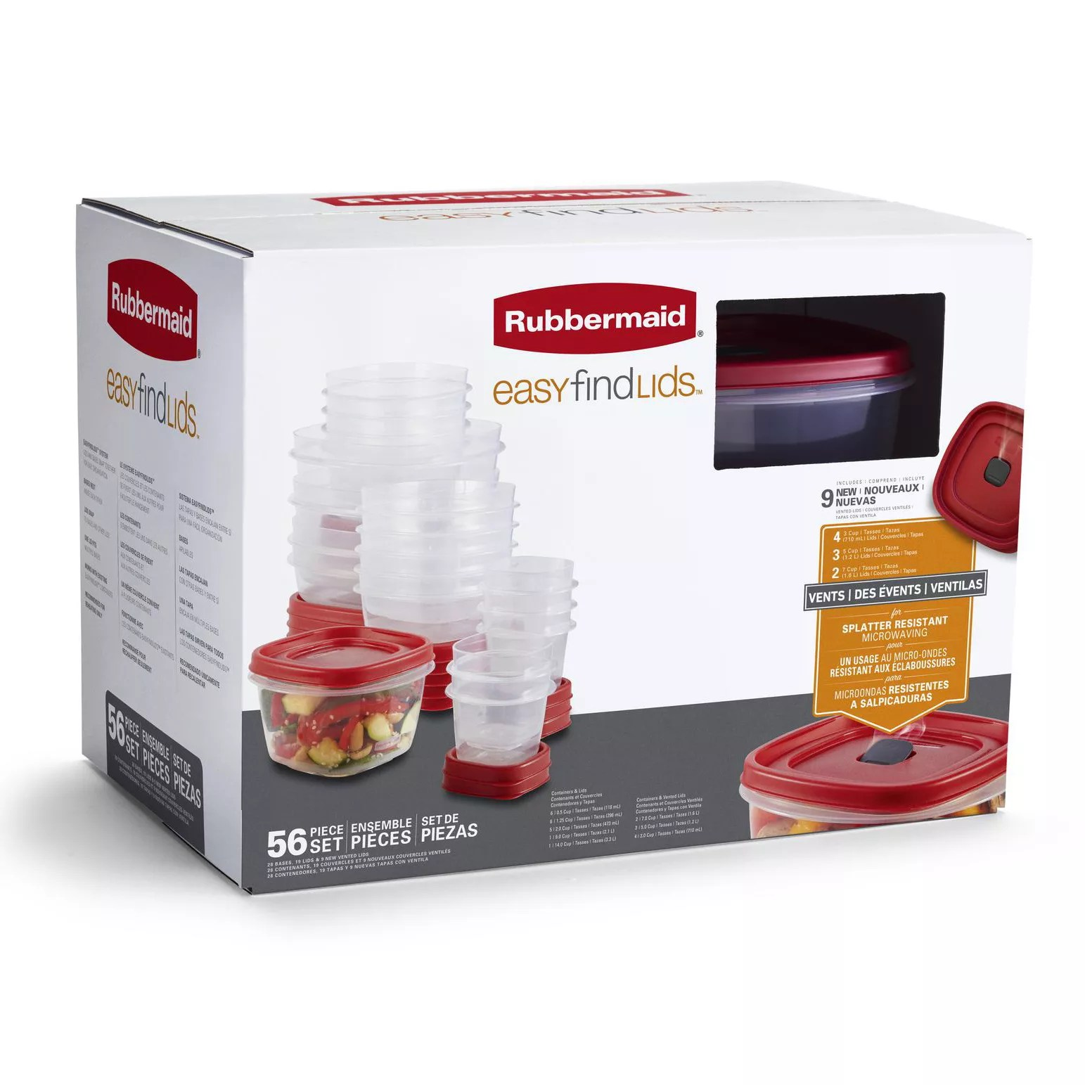 Rubbermaid Food Storage Container Set 56pc Bjs Wholesale Club
