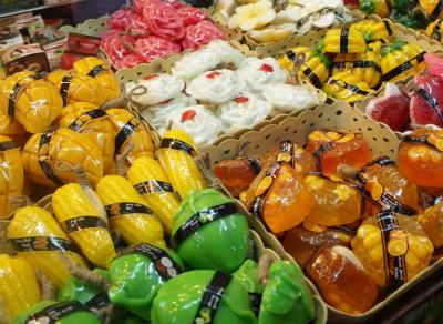 タイで買い付けするマンゴーの匂いの石けん
