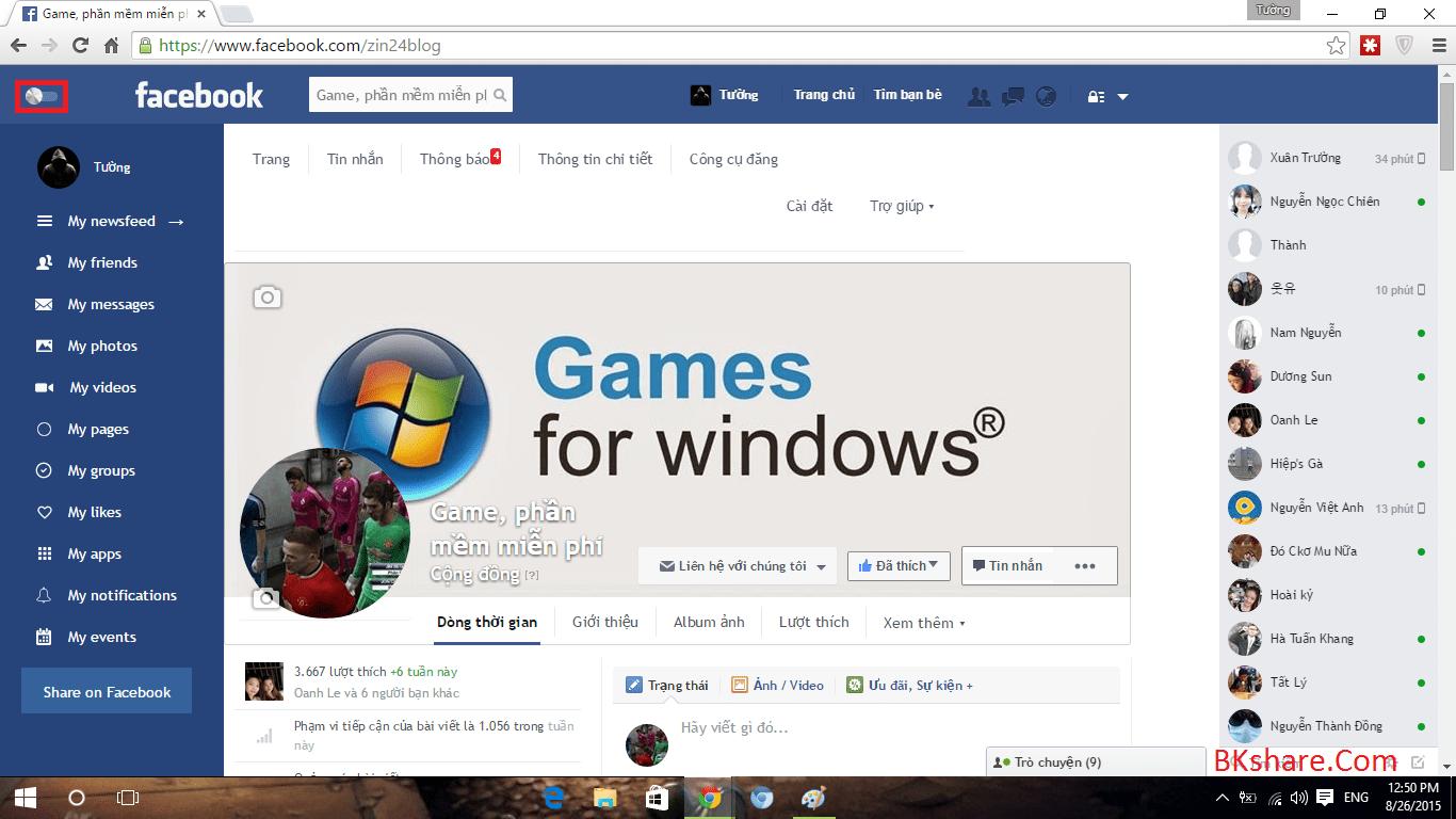 Hướng dẫn đổi giao diện phẳng tuyệt đẹp cho Facebook