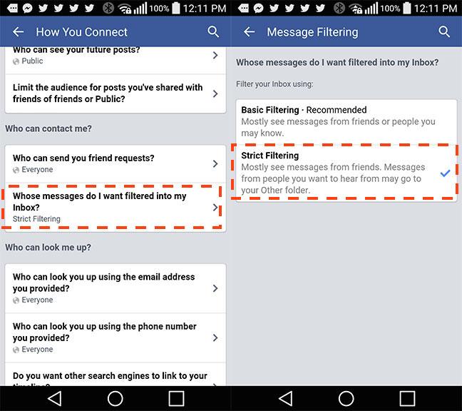 Cách chặn tinh nhắn rác trên Facebook