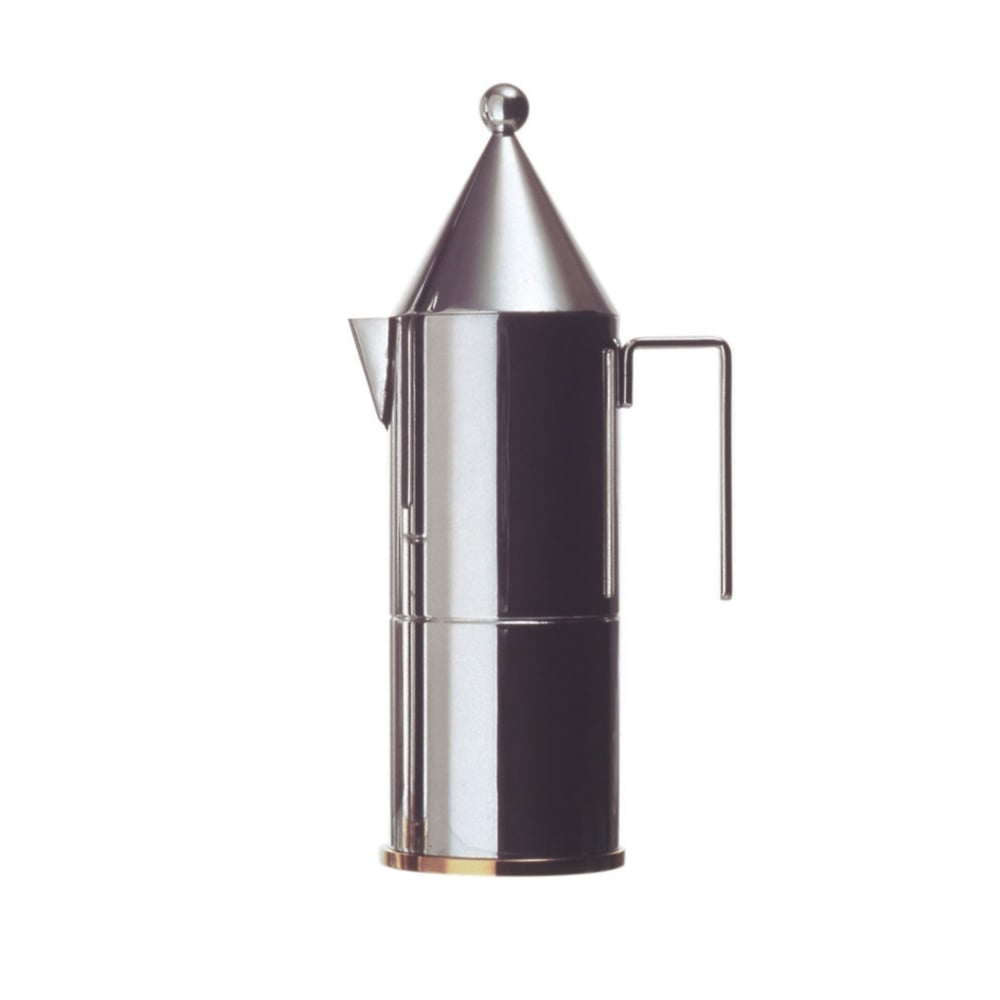 Alessi Espressokocher Alessi La Conica Espresso Coffee Maker In Stainless Steel