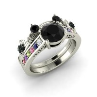 Mickey Mouse Wedding Rings - BLACK RINGS