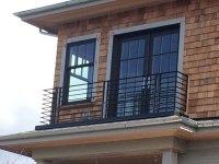 Modern Balcony Railing - Blackbird Iron & Design