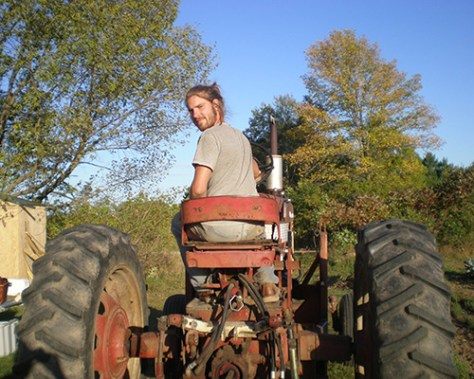 James on a tractor