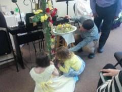 children on Easter Sunday