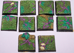 10x jungle terrain 25mm bases