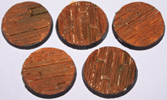 5x wooden Plank floor 40mm bases.