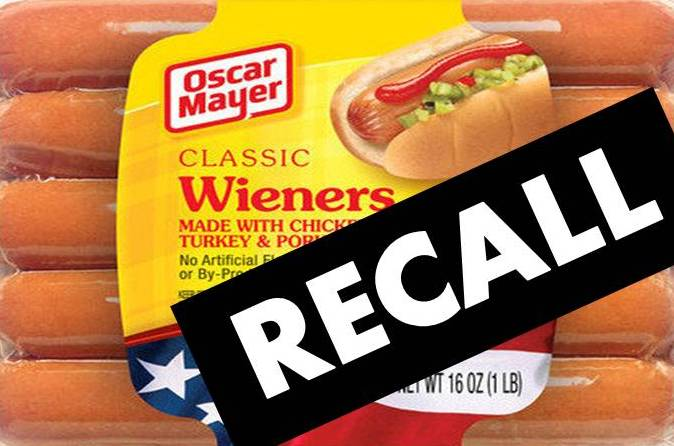 Oscar Mayer Recall on oscar mayer classic wieners nutrition
