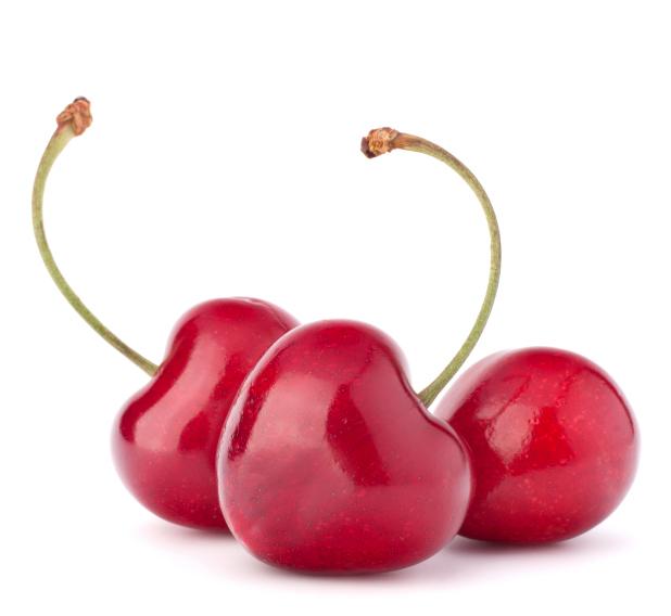 Heart shaped cherry berries