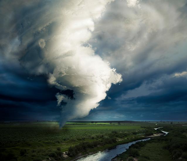 Tornado about to make damage