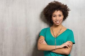 smiliing african american woman