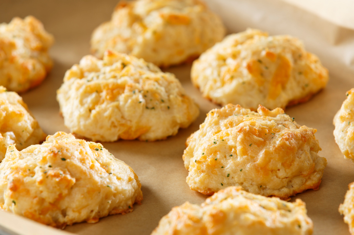 Cheddar Cheese Biscuits Fresh From the Oven