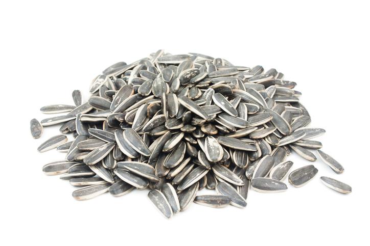 Sunflower Seeds,isolated on white background.