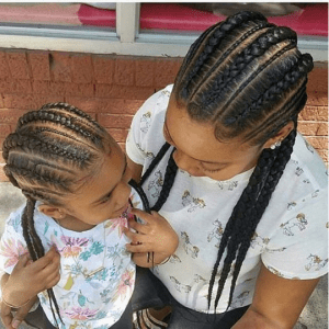 African American girls with braids protective hairstyles