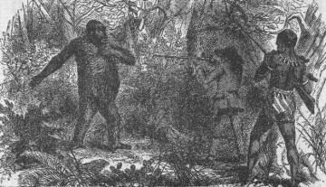 French_explorer_Paul_du_Chaillu_at_close_quarters_with_a_gorilla