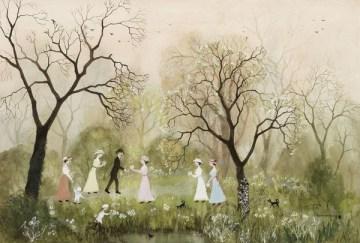 going-on-a-picnic-helen-bradley-1900-1979
