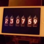 ニキシー管時計のアプリ
