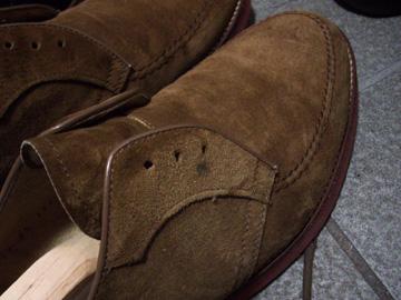 靴 スエード 汚れ 補修前