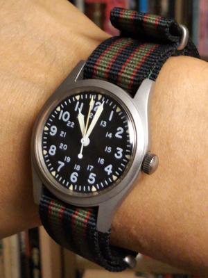 """Geckota NATO G10 """"ビンテージ ボンド Bond"""" ナイロン製 ミリタリー 時計替えベルト ストラップ ストライプ Hamilton GG-W-113"""