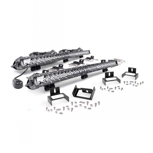 50 led cree light bar pair with wiring kit