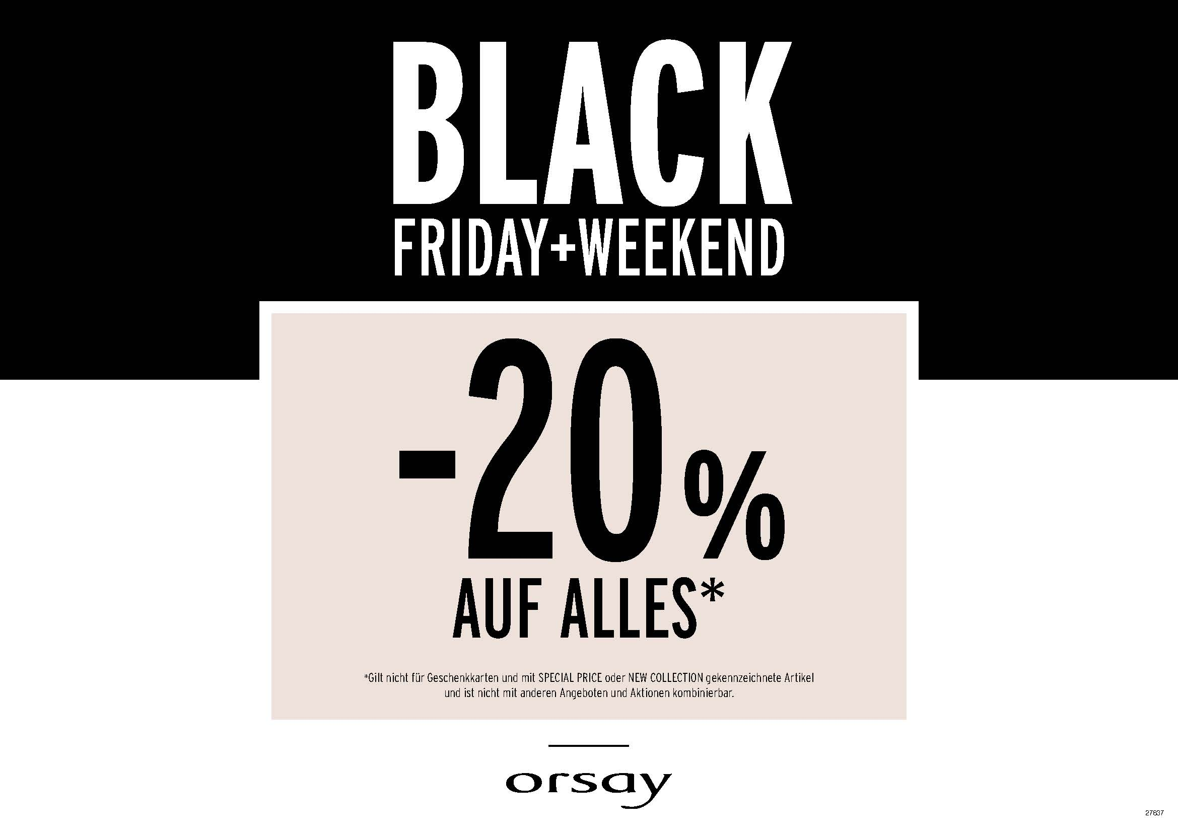 Black Friday Wann Black Friday 20 Bei Orsay Black Friday 2018 Österreich