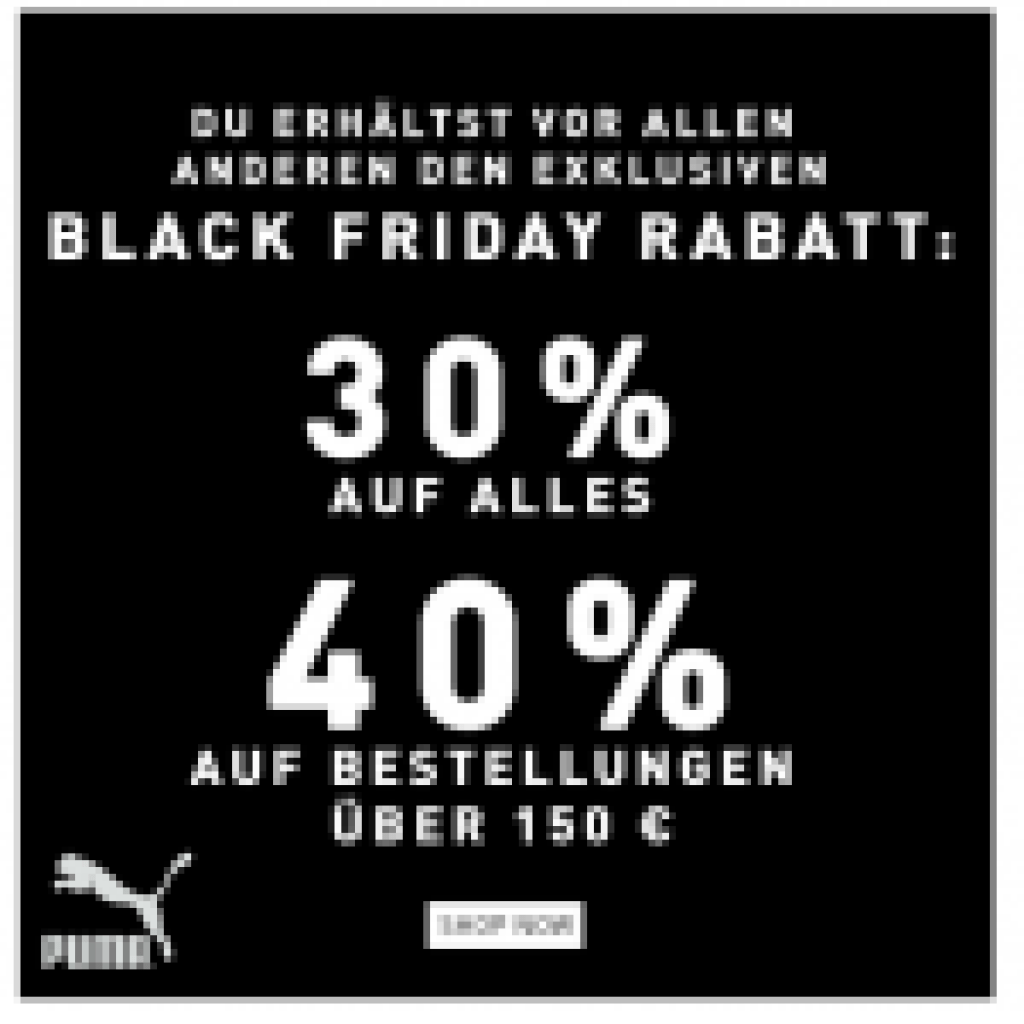 Black Friday Wann Bis Zu 40 Auf Fast Alles Bei Puma Black Friday 2019