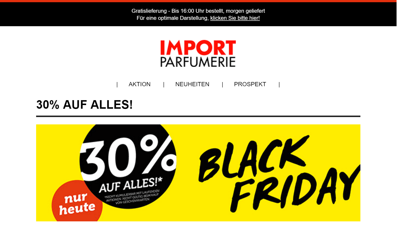 Black Friday Angebot Alle Import Parfumerie Black Friday And Cyber Monday Angebote