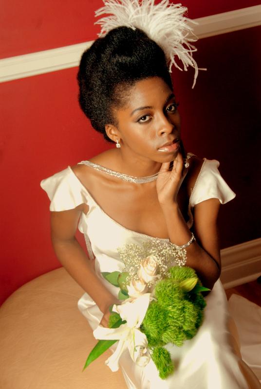 wedding and formal natural hair