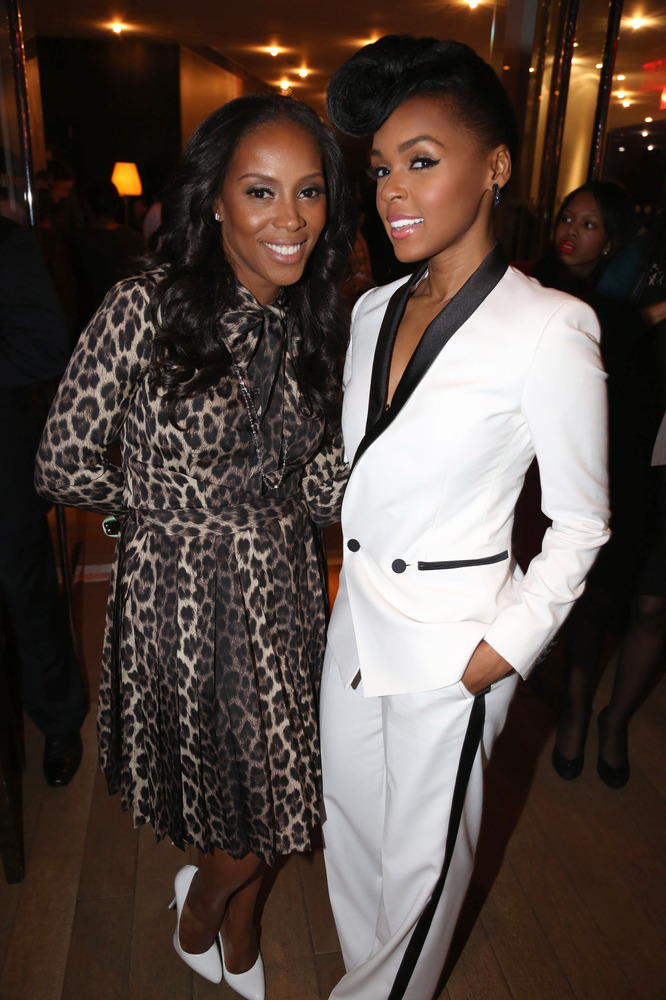 janelle monae�s swoop curl pomp and white lowcut tuxedo