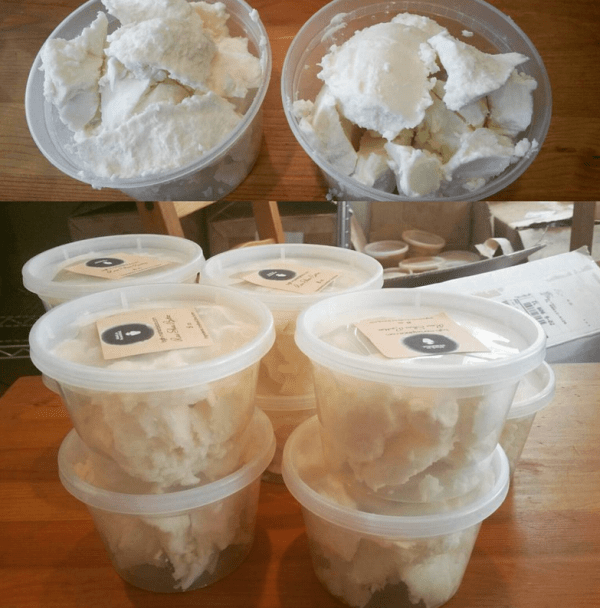 Raw shea butter sold at BGLH Marketplace (http://bglh-marketplace.com)