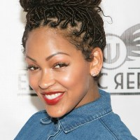 Meagan Good Rocks Faux Locs and Zendaya Coleman Shows Off Her Natural Curls