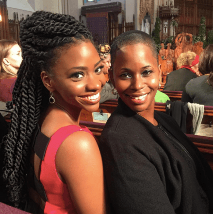 teyonah parris and mom