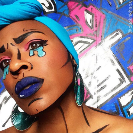 Black Makeup Artist Transforms Herself Into 2D Comic and Graphic Art