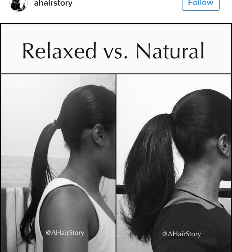 Black Women are Comparing Their Relaxed Hair Health vs Their Natural Hair Health and It's Eye Opening