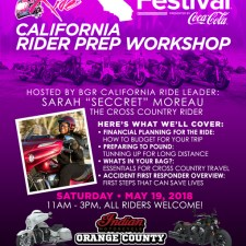 BGR to Essence Fest: California Rider Prep Workshop – May 19, 2018
