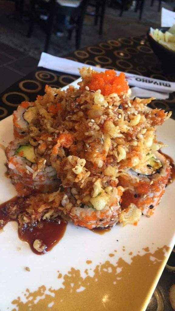 Crunchy sushi from Miyako.